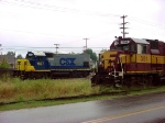 On loan from CSX, GP-15-1 1557 replaces the 351 as it suffers from a bad wheel bearing